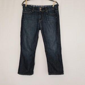 Paige Hidden Hills dark wash crop jeans Sz 31